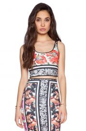 Clover Canyon Floral Scarf Print Reverible Crop Top at Revolve