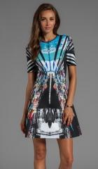 Clover Canyon Glacial City Neoprene Dress in Multi  REVOLVE at Revolve