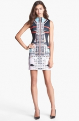 Clover Canyon Metropolis Print Scuba Sheath Dress at Nordstrom