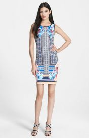 Clover Canyon and39Byzantine Scarfand39 Print Neoprene Sheath Dress at Nordstrom