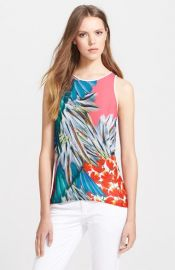 Clover Canyon and39Carnivaland39 Print Georgette Top at Nordstrom