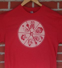 Clown Wheel Spinner Tshirt at Etsy
