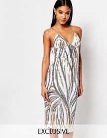 Club L  Club L Midi Dress With Cami Strap In Sequin at Asos