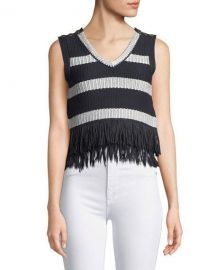 Club Monaco Olivina Sleeveless Fringe Sweater   Neiman Marcus at Neiman Marcus