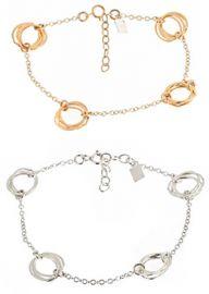 Clustered Circle Bracelet at Peggy Li