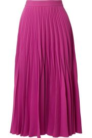 Co   Pleated crepe midi skirt at Net A Porter