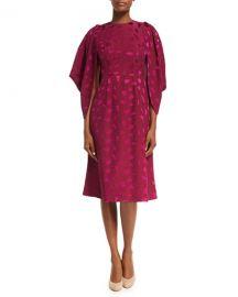 Co Cocoon-Sleeve Mosaic Jacquard Midi Dress   Neiman Marcus at Neiman Marcus