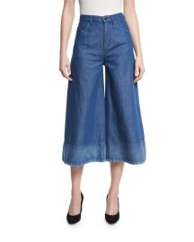 Co Denim Wide-Leg Cropped Pants at Neiman Marcus