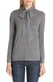 Co Essentials Tie Neck Cashmere Sweater at Nordstrom