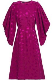 Co Satin Jacquard Dress at The Outnet
