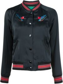 Coach Embroidered Landscape Bomber Jacket - at Farfetch