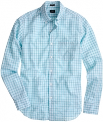 Coastline Aqua Check Shirt at J. Crew