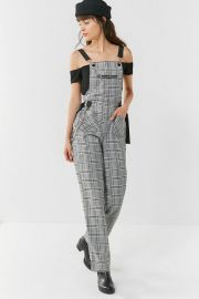 Cobain Plaid Chain Overall at Urban Outfitters
