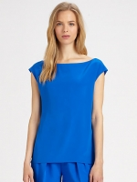 Cobalt blue blouse at Saks Fifth Avenue