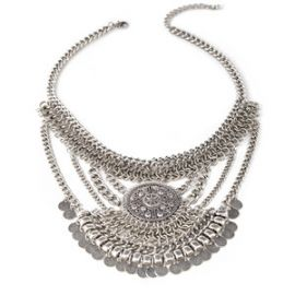 Coin Fringe Pendant Necklace by Forever 21 at Forever 21