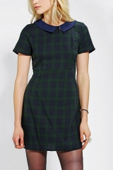 Coincidence and Chance Collared Plaid Babydoll Dress at Urban Outfitters