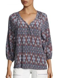 Colby Kimono Ikat Print Silk Blouse by Joie at Saks Off 5th