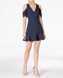 Cold-Shoulder Fit & Flare Dress by J.O.A at Macys