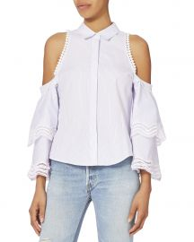 Cold Shoulder Stripe Top by Jonathan Simkhai at Intermix