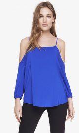 Cold shoulder blouse at Express