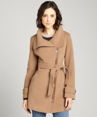 Cole Haan Camel Asymmetric Coat at Bluefly