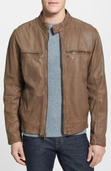 Cole Haan Lambskin Leather Moto Jacket at Nordstrom