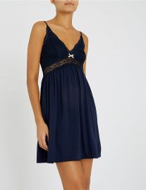 Colette jersey and stretch-lace chemise at Selfridges