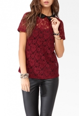 Collared Lace top at Forever 21