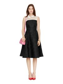 Collared fit and flare dress at Kate Spade