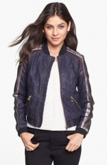 Collection B Multicolor Faux Leather Bomber Jacket at Nordstrom