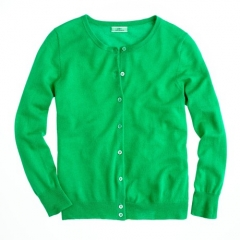 Collection featherweight cashmere cardigan in green at J. Crew