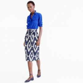 Collection midi skirt in ikat at J. Crew