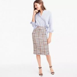 Collection pencil skirt in French tweed by J.Crew at J. Crew