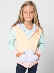 Color Block Kids Hoodie at American Apprel