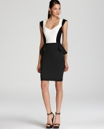 Color Block Peplum dress by Erin Fetherston at Bloomingdales