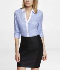 Color block essential shirt at Express
