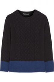 Color-block yak and wool-blend sweater at The Outnet