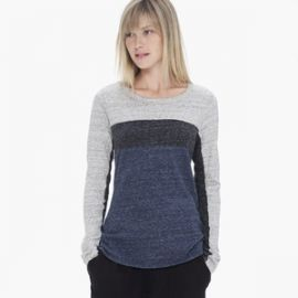 Colorblock Melange Tee at James Perse