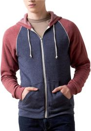 Colorblock Raglan Hoodie at Alternative