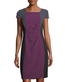 Colorblock Short-Sleeve Sheath Dress by Tahari ASL at Last Call