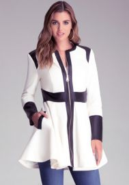 Colorblock Trench Coat at Bebe
