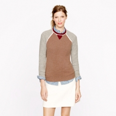 Colorblock Waffle Sweater at J. Crew