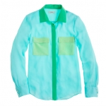 Colorblock blouse from J Crew at J. Crew