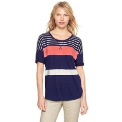 Colorblock drop sleeve t at Gap