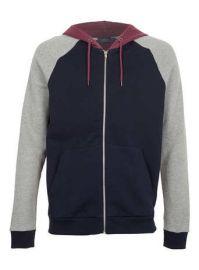 Colorblock hoodie at Topman