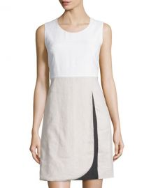 Colorblock linen dress at Last Call