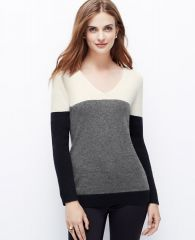 Colorblock sweater at Ann Taylor