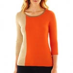 Colorblock sweater by Liz Claiborne at JC Penney
