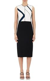Colorblocked Crepe Sheath Dress at Barneys
