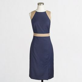 Colorblocked Seamed Sheath at J. Crew Factory